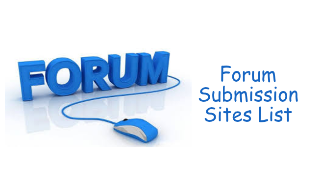 Forum Submission Sites List - Free and do-follow Signature Links